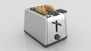 3D model bread toaster kenwood