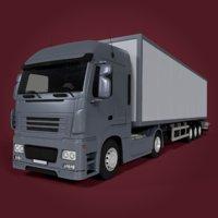 3d fbx box truck