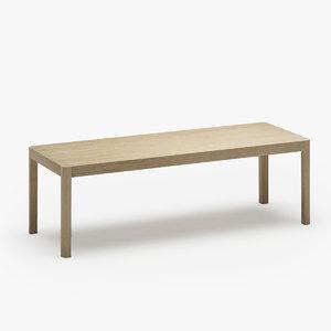 3D muuto workshop coffee table