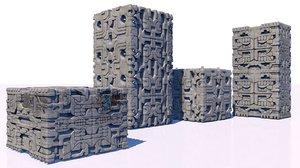 stones temples ruins model