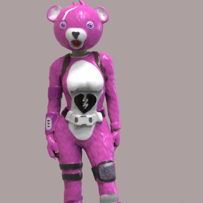 3D fortnite figurine