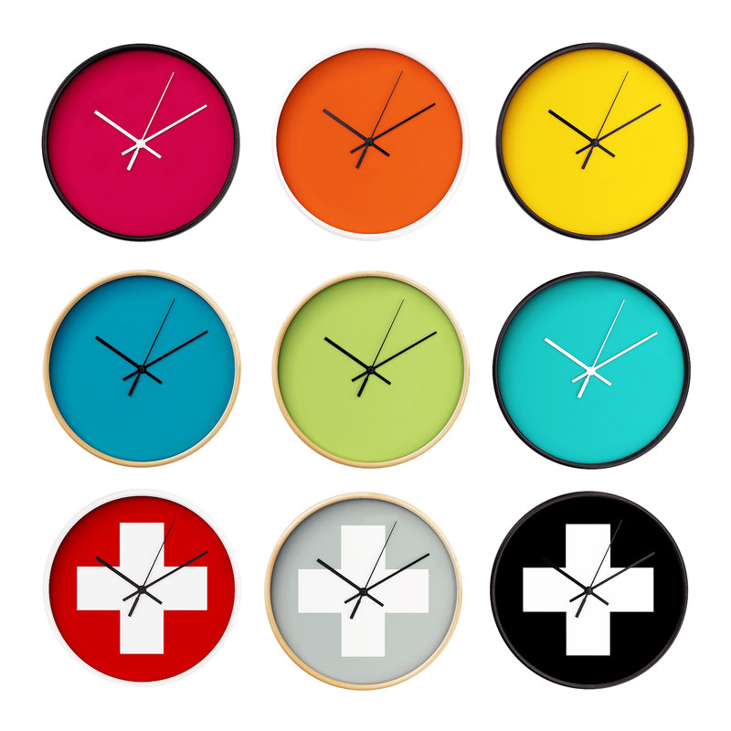 3D wall clock set 03