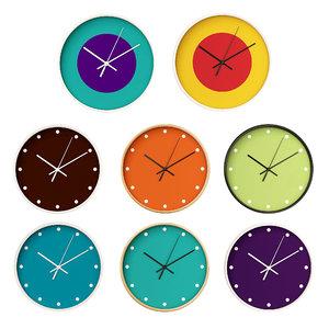 3D wall clock set 06