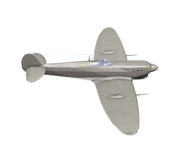 3D model supermarine spitfire ww2 fighter