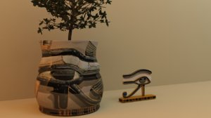 potted plant eye horus 3D model