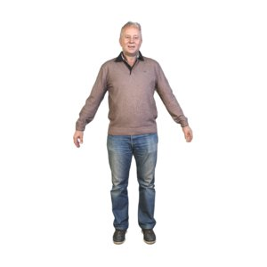 3D scanned pose t-pose a-pose