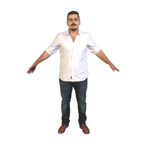 scanned pose t-pose a-pose 3D model