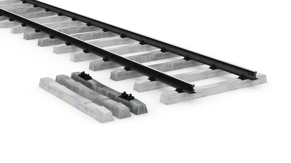3D railway rails model