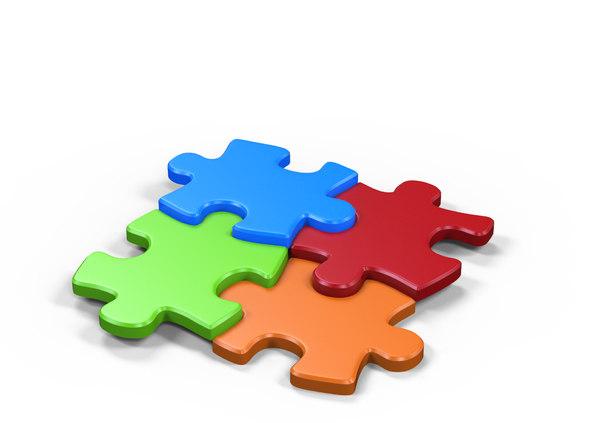 3D puzzle games model