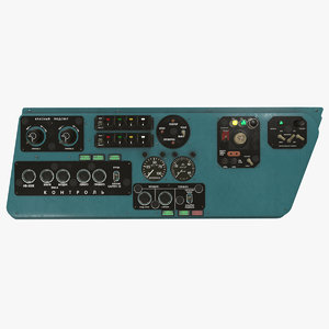 left console mi-8mt mi-17mt 3D model