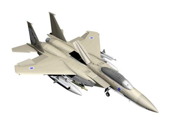 3D f-15 eagle israeli model