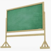 chalkboard chalk board 3D model