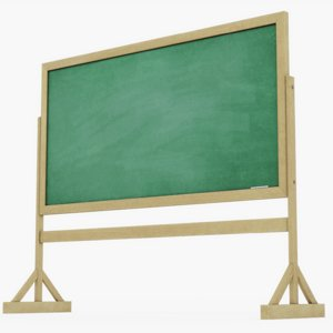 chalkboard chalk board 3D model