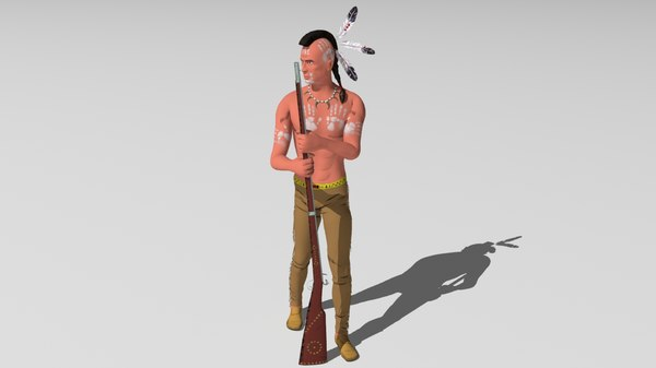 indian native american 3D model