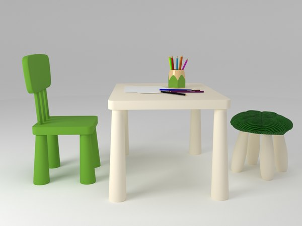 3D ikea mammut furniture model