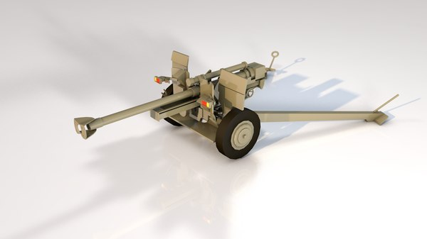 3D military cannon m 105