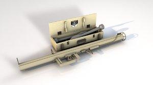 bazooka grenade launcher 3D model