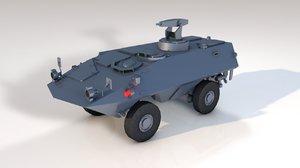 mowag military vehicle tank 3D model