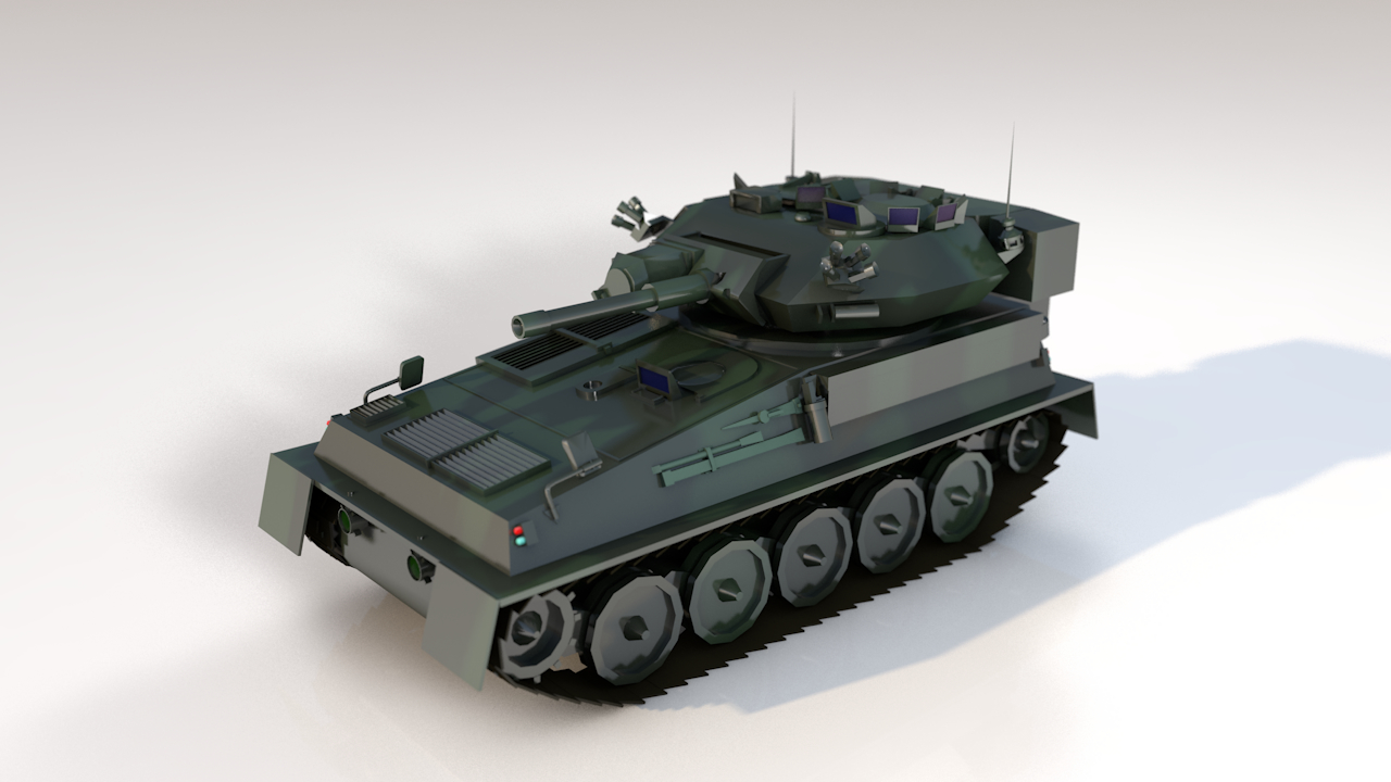 fv101 scorpion military british 3D