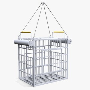 shark-proof cage 3D model