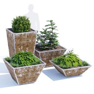 3D lounge planter