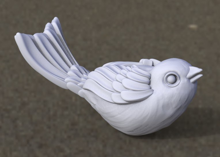 3D wings feathers model