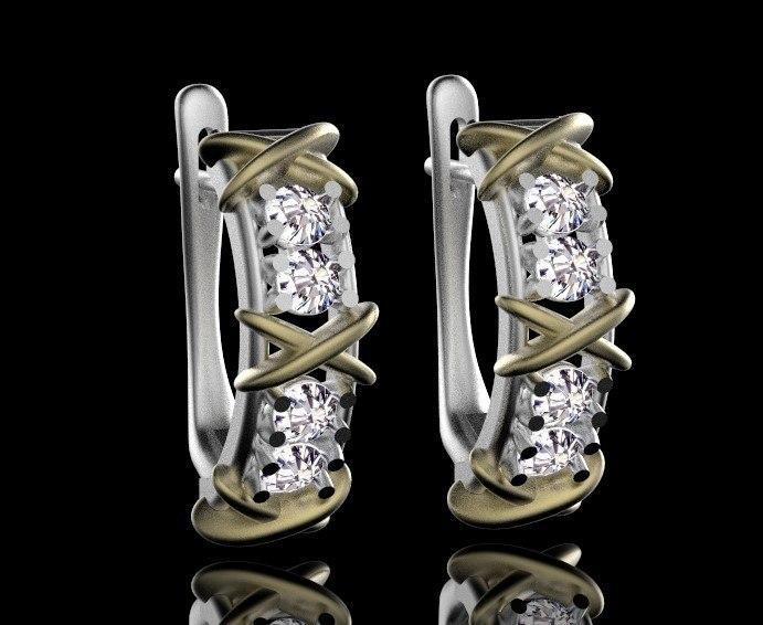 ring earrings 3D