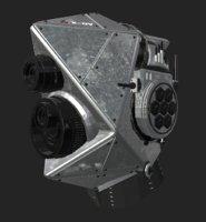 robotic helmet modelled model