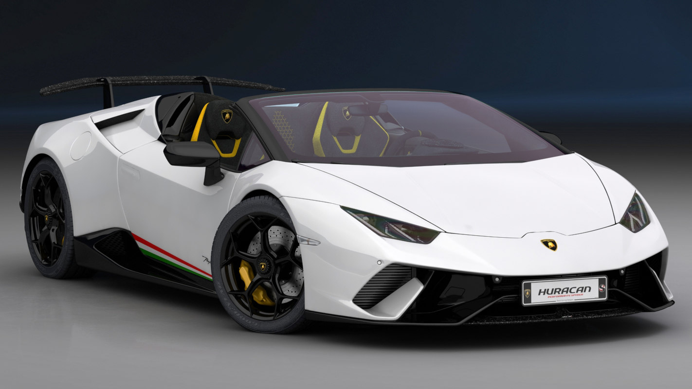 3d Lamborghini Huracan Performante Spyder Model Turbosquid 1372859