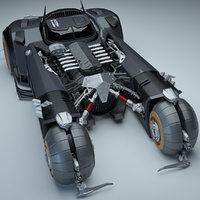 white knight batmobile 3D