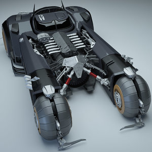 white knight batmobile 3D