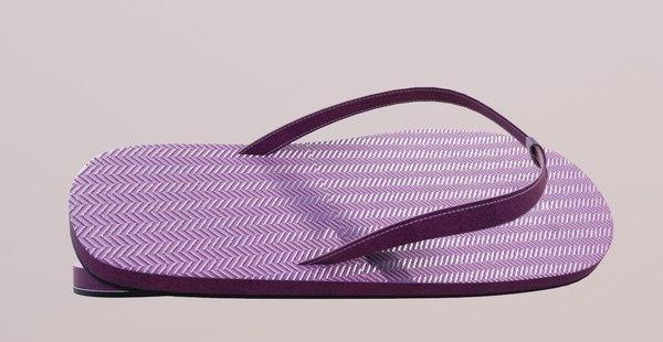 shoes flipflops casual 3D model