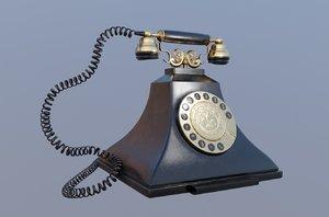 retro vintage landline 3D model