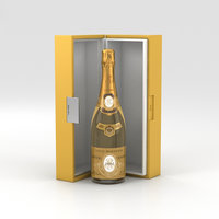 cristal champagne 3D
