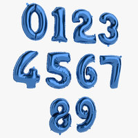 3D foil balloon number