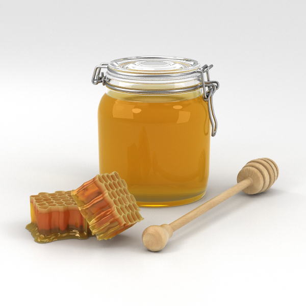 honey honeycomb food 3D model
