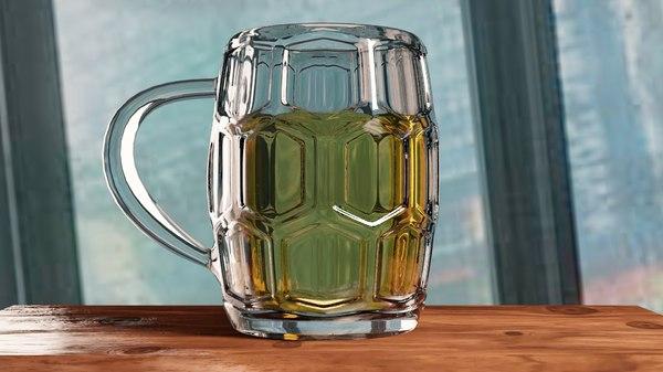 3D beer glass model
