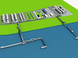lng terminal port 3D