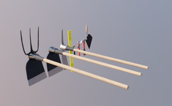 3D model garden hoe