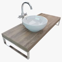 3D bathroom washbasin plate
