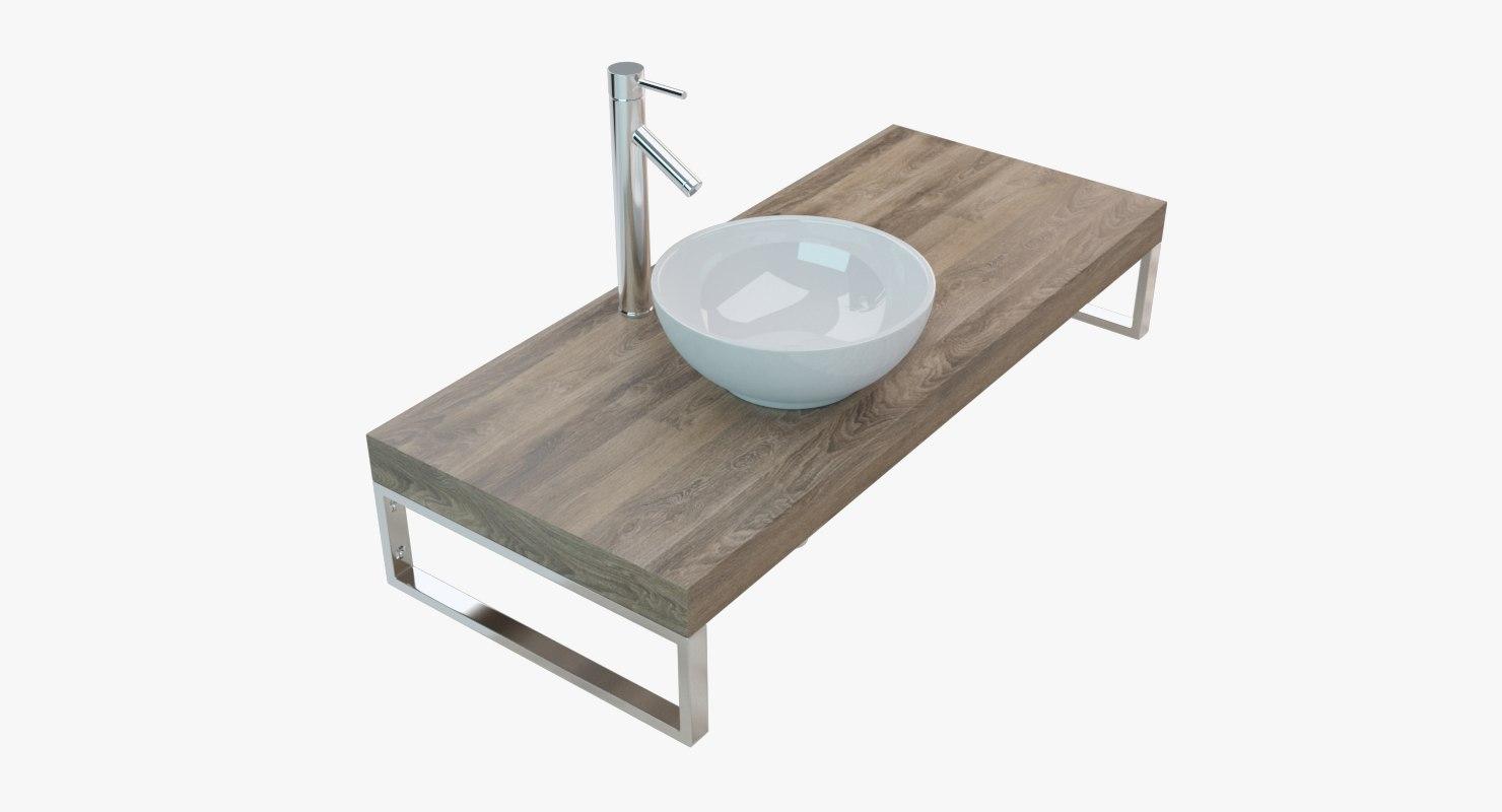 bathroom washbasin plate 3D
