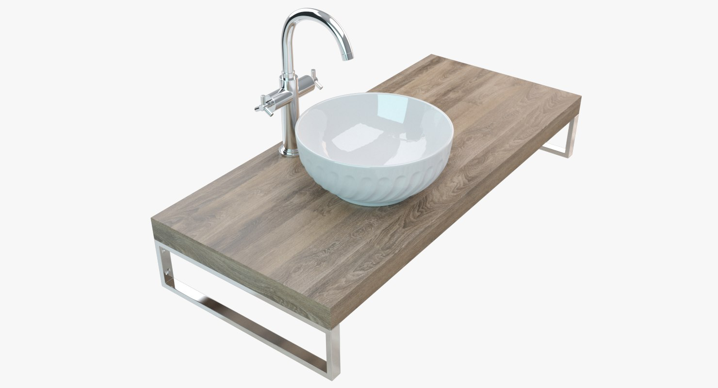 bathroom washbasin plate model
