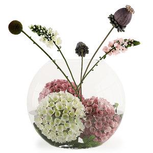 3D flowers aquarium