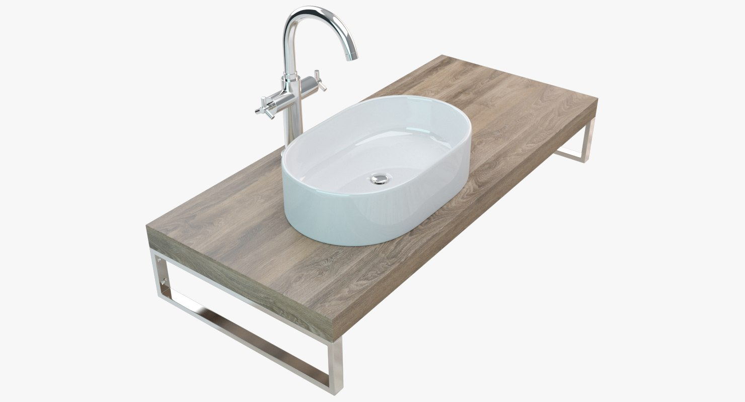 bathroom washbasin plate 3D