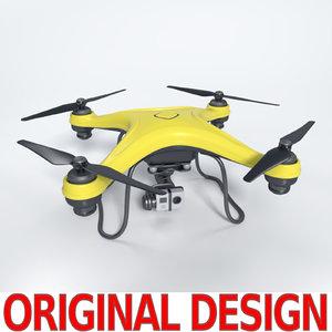 quadcopter drone quads 3d 3ds