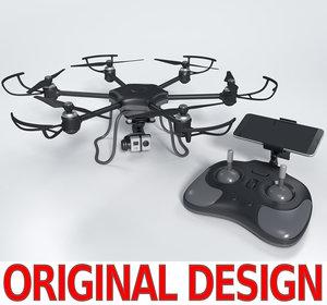 drone blender quads 3d model