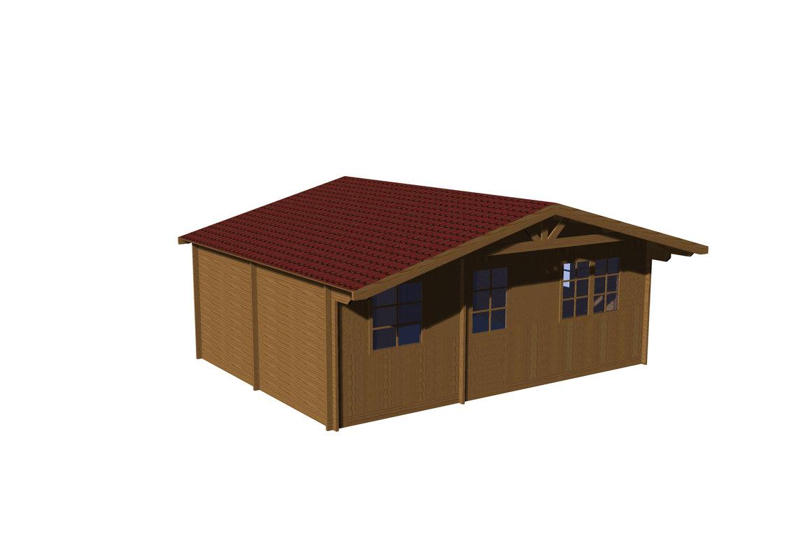 3D model gardening chalet