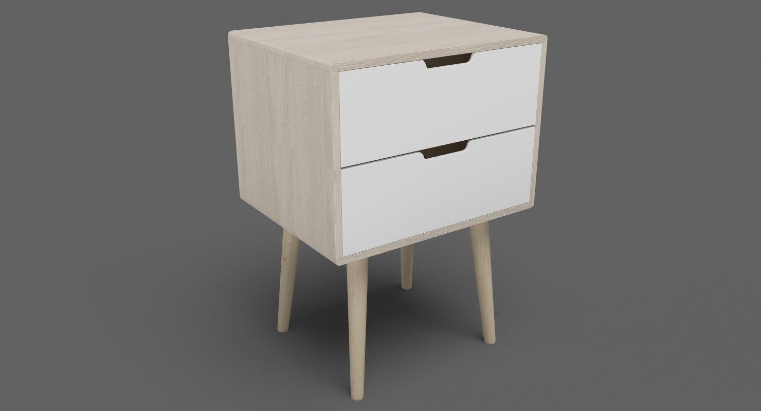 bedside table 07 3D model