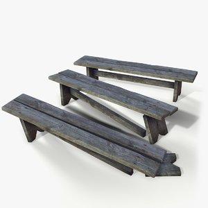 3D model ready bench