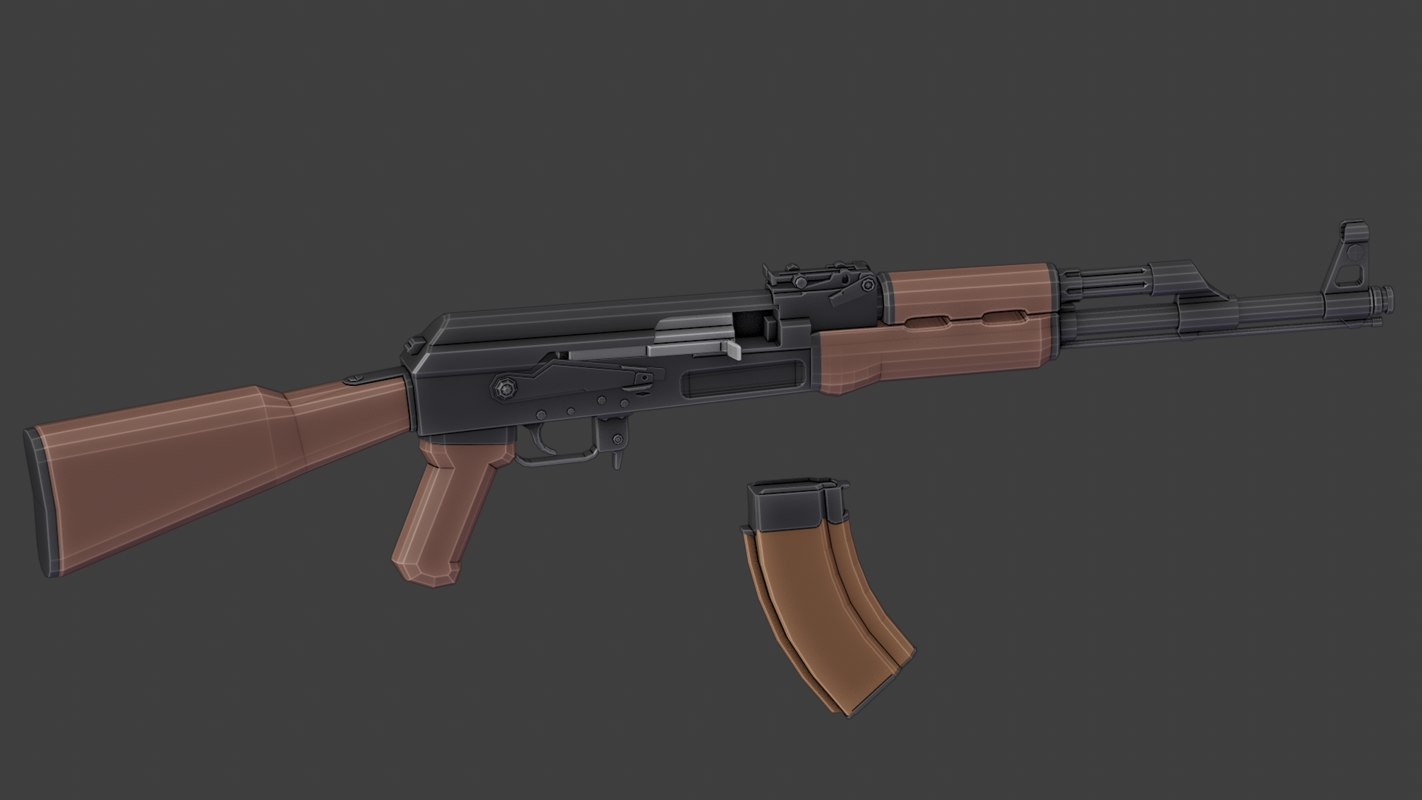 ak-47 low poly